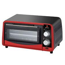Hoffmanns 20477 800W, 9L, Elektrischer Mini-Backofen - Rot