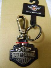 Harley-Davidson® Schlüsselanhänger Key Fob Leder/Metall  99444-06V B&S