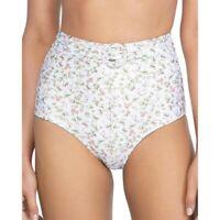 Peony 259933 Women Floral High Waist Bikini Bottom Swimwear Size 4
