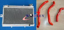 For Honda TRX250 TRX250R 1986 1987 86 87 Aluminum Radiator & RED Silicone Hose