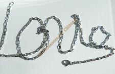 Chaine Longue Argenté 71 cm Acier Inox Maille Forçat 2,5 mm Maillon Rectangle