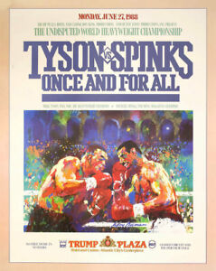 MIKE TYSON vs MIKE SPINKS 8X10 PHOTO BOXING POSTER PICTURE