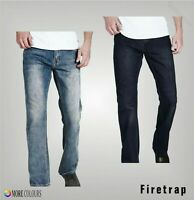 Mens Firetrap Stitched Detail Classic Zip Tokyo Jeans Sizes Waist from 30 to 40