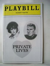 PRIVATE LIVES Playbill ELIZABETH TAYLOR / RICHARD BURTON Tryout BOSTON 1983