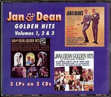 JAN & DEAN - GOLDEN HITS VOLUME 1, 2 & 3   2 CD  1996  ONE WAY RECORDS