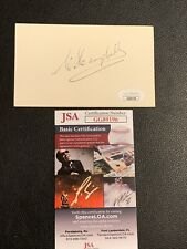 Superb Clarence Campbell Signed Index Card Autographed Jsa Coa Hockey Auto Rare
