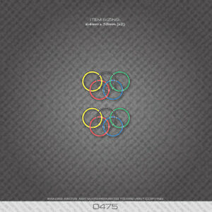 0475 Olympic Rings - Bicycle Decals Stickers