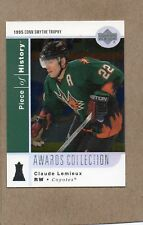 claude lemieux phoenix coyotes card 2002/03 ud piece of history ac21 awards coll
