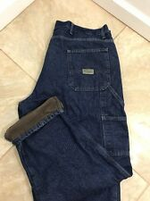 Men Wrangler Flannel Lined Jeans A755A size 38 X 32