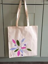 Flower Power Cotton Tote Shopping Bag 38x42cm