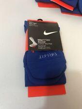 Nike Socks Youth Women Soccer Blue  Over-the-Calf 3Y-5Y/ 4-6 Wmn NWT