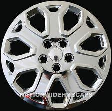 "4 New 2012 2013 Ford Focus CHROME 16"" Wheel Covers Full Rim 5 Lug Hub Caps Skins"