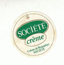 Etiquette de Fromage Société crème de Roqueford  N°69
