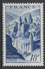 TIMBRE FRANCE NEUF LUXE ** N° 805 ABBAYE DE CONQUES