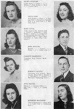 1940 Wellesley High School Yearbook~Photos~History~Baseball~Archery~Drama~WWII