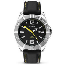 Mens Sekonda 200m water resistant black rubber watch 3324