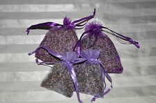 2 large Lavender Flower Bags / Scented Drawer Sachets