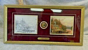 "Thomas Kinkade ""A Perfect Day Beginning To End"" Lithograph S/N Signed Gold Frame"