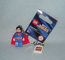 NEW LEGO SUPER HEROES SUPERMAN MINIFIGURE KEY CHAIN, KEY RING, 853430