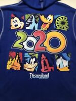 Disney Parks  Disneyland Resort 2020 Zip Hoodie Size Adult XL Men's Blue