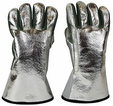 """ALUMINIZED HEAT RESISTANT GLOVES FOR MELTING GOLD SILVER COPPER BRASS COPPER 13"""""""