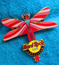 AMSTERDAM DUTCH CANDY PINK EURO DRAGONFLY GUITAR SERIES Hard Rock Cafe PIN LE