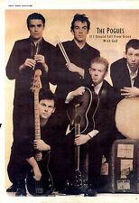 """23/1/88pg24/25 Double Page Album Advert 15x20"""" The Pogues, If I Should Fall From"""