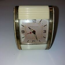 Vintage Westclox Travel Alarm Clock Roll Door Front