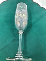 Gorgeous Gold Accented Year 2000 Y2K Millennium Commemorative Champagne Glass