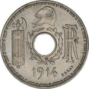 [#181787] Monnaie, France, Essai de Becker, Petit Module, 25 Centimes, 1914, SUP