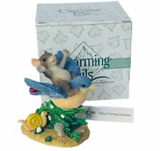 Charming Tails figurine fitz floyd Box mouse anthropomorphic Wings Friendship