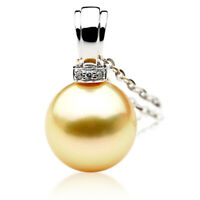 New Pacific Pearls® 11mm Australian Golden South Sea Pearl Pendant Wedding Gifts