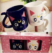 Sailor Moon Crystal 20th Anniversary Luna & Artemis lovers Mug Cup gift 2 pcs