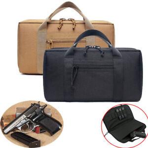 New Nylon Tactical Pistol Case Range Bag Case Handgun Bag Magazine Pouch Storage