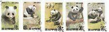 KOREA - Bustina 5 francobolli serie PANDA