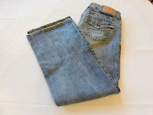 American Eagle Outfitters Jean pour Femmes Pantalon Taille 4 Court Notes