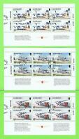 Guernsey  1989 Airport booklet panes, 456a,458a & 460a fine used