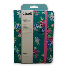 "Case It Universal 6"" 8"" Light Folio Case For iPad Mini 4/3/2/1 Vintage Floral"