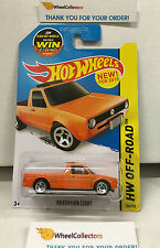 Volkswagen Caddy #124 * Orange * Hot Wheels 2015 USA Card * WF2