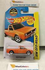 Volkswagen Caddy #124 * Orange * Hot Wheels 2015 USA Card * W30