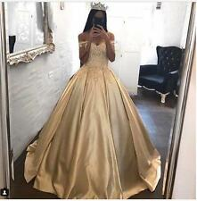 Lace Satin Quinceanera Dresses Sweet 15 16 Ball Gowns Evening Prom Wedding Dress