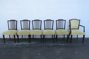 Solid Mahogany Set of Six Dining Chairs 2440
