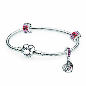 Pandora B800696 Bracelet Sterling Silver Tree of Love Gift Set 21CM RRP $199