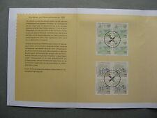 GERMANY BRD, spec. issue 1997, blocks of 4 CTO FDC , windmill watermill