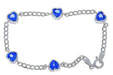 5 Ct Tanzanite Heart Bezel Bracelet .925 Sterling Silver