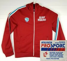 Hollister Pro Sport Mens Hooded Jacket Red Newport Beach Full Zip Track Size L