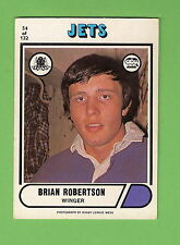 1976 SCANLENS RUGBY LEAGUE CARD #54  BRIAN ROBERTSON, NEWTOWN JETS