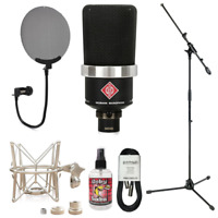 New Neumann TLM 102 Studio Recording Condenser Microphone + Mic Accessory Bundle