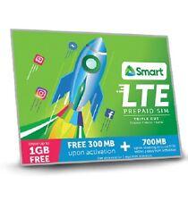 SMART Prepaid Philippines Travel LTE Roaming SIM CARD Mini Micro Nano w 300 Load