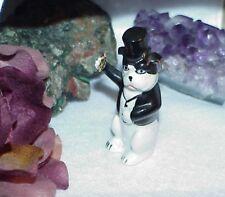Christmas Ornament Germany Bosse Art Deco Porcelain Tuxedo Dog Booze Bottle Rare